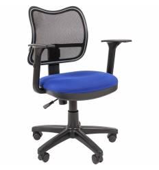 Кресло CHAIRMAN 450/TW-10 для оператора, сетка/ткань, цвет черный/синий