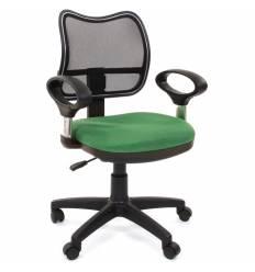 Кресло CHAIRMAN 450/TW-18 для оператора, сетка/ткань, цвет черный/зеленый
