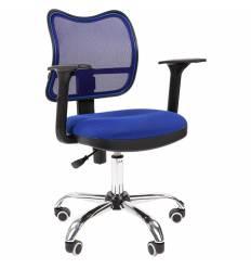 Кресло CHAIRMAN 450 сhrom/TW10-TW05 для оператора, сетка/ткань, цвет синий