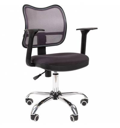 Кресло CHAIRMAN 450 сhrom/TW12-TW04 для оператора, сетка/ткань, цвет серый