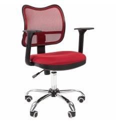 Кресло CHAIRMAN 450 сhrom/TW13-TW06 для оператора, сетка/ткань, цвет бордовый