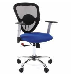 Кресло CHAIRMAN 451/TW-10 для оператора, сетка/ткань, цвет черный/синий