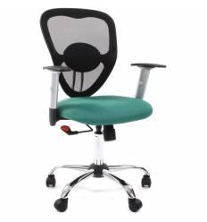 Кресло CHAIRMAN 451/TW-18 для оператора, сетка/ткань, цвет черный/зеленый
