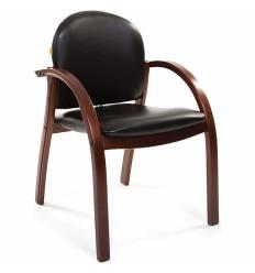 Кресло CHAIRMAN 659/black matte для посетителя, экокожа матова, цвет черный