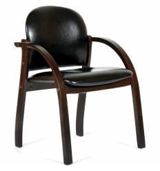 Кресло CHAIRMAN 659/black glossy для посетителя, экокожа матовая, цвет черный