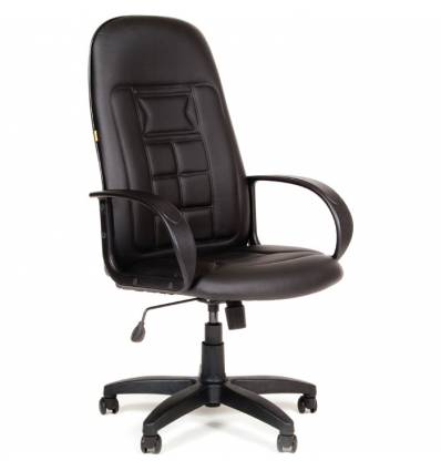Кресло CHAIRMAN 727/black для руководителя, экокожа, цвет черный