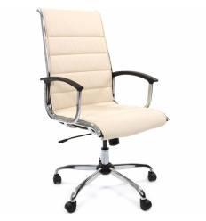Кресло CHAIRMAN 760/beige для руководителя, экокожа, цвет бежевый