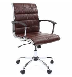 Кресло CHAIRMAN 760M/brown для руководителя, экокожа, цвет коричневый