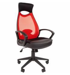 Кресло CHAIRMAN 840 Black/Red для руководителя, цвет черный/красный