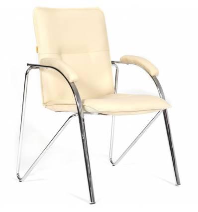 Кресло CHAIRMAN 850/beige для посетителя, экокожа, цвет бежевый