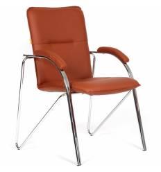 Кресло CHAIRMAN 850/brown для посетителя, экокожа, цвет коричневый