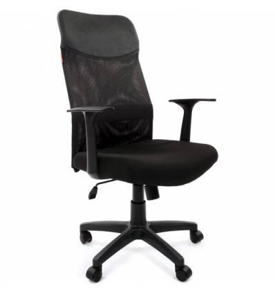Кресло CHAIRMAN 610 LT для руководителя, сетка/ткань, цвет черный