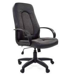 Кресло CHAIRMAN 429/GREY для руководителя, экокожа/ткань, цвет черный/серый