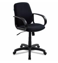 Кресло Бюрократ CH-808-LOW/BLACK для руководителя, низкая спинка, черный