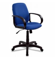 Кресло Бюрократ CH-808-LOW/BLUE для руководителя, низкая спинка, синий