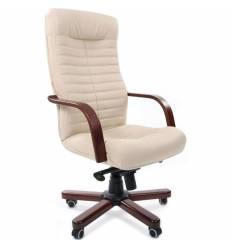 Кресло CHAIRMAN 480 WD/beige для руководителя, экокожа, цвет бежевый