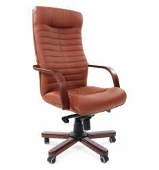 Кресло CHAIRMAN 480 WD/brown для руководителя, экокожа, цвет коричневый
