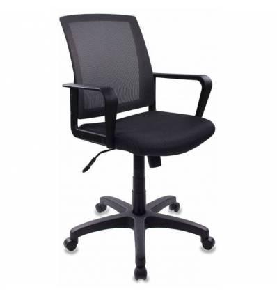 Кресло Бюрократ CH-498/DG/TW-12 для оператора, цвет серый, спинка сетка