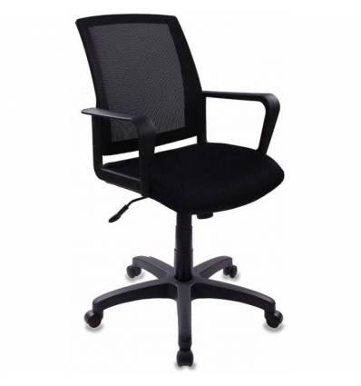 Кресло Бюрократ CH-498/TW-11 для оператора, цвет черный, спинка сетка