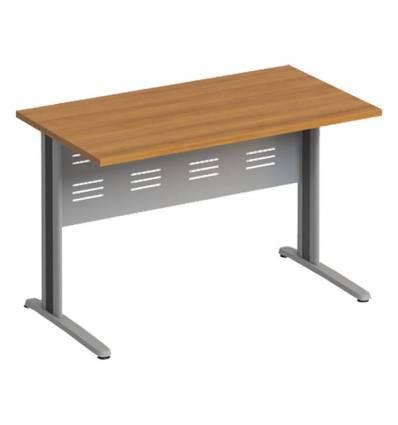 Стол офисный СТОРОСС Формула ФР-1201-ОН на металлокаркасе МФ для персонала, 120*67*75, цвет орех натуральный