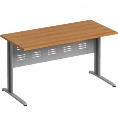 Стол офисный СТОРОСС Формула ФР-1202-ОН на металлокаркасе МФ для персонала, 140*67*75, цвет орех натуральный