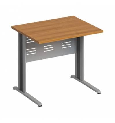 Стол офисный СТОРОСС Формула ФР-1204-ОН на металлокаркасе МФ для персонала, 84.4*67*75, цвет орех натуральный