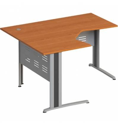 Стол офисный СТОРОСС Формула ФР-1206-ЛХ эргономичный левый на металлокаркасе МФ для персонала, 140*118*75, цвет ольха