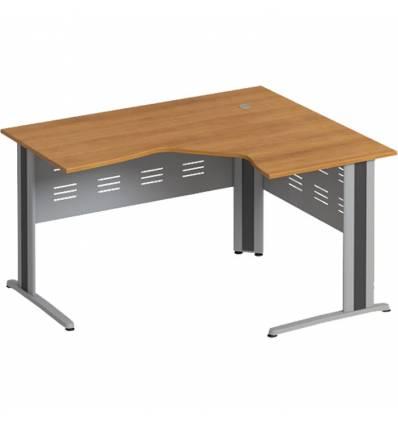 Стол офисный СТОРОСС Формула ФР-1207-ОН эргономичный правый на металлокаркасе МФ для персонала, 140*118*75, цвет орех натуральны