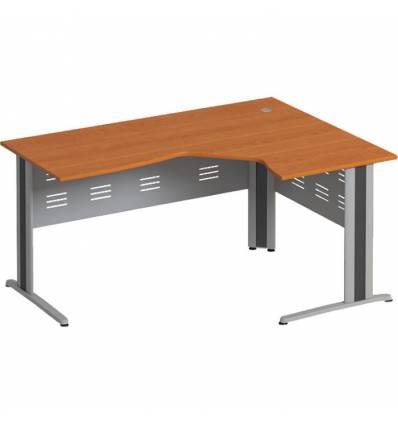 Стол офисный СТОРОСС Формула ФР-1209-ЛХ эргономичный правый на металлокаркасе МФ для персонала, 160*118*75, цвет ольха