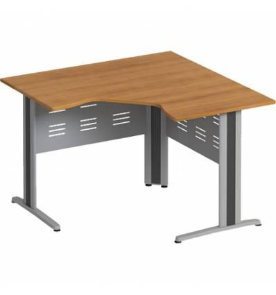Стол офисный СТОРОСС Формула ФР-1233-ОН угловой на металлокаркасе МФ для персонала, 118*118*75, цвет орех натуральный