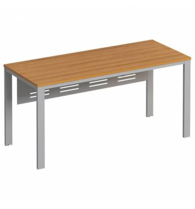 Стол офисный СТОРОСС Формула ФР-193-ОН на металлокаркасе МП2 для персонала, 160*67*75, цвет орех натуральный