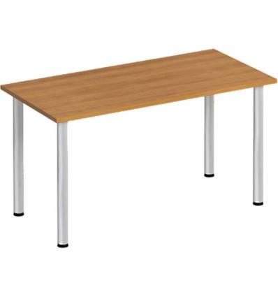 Стол офисный СТОРОСС Формула ФР-1102-ОН на хромированных опорах для персонала, 140*67*75, цвет орех натуральный