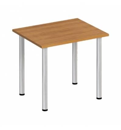 Стол офисный СТОРОСС Формула ФР-1104-ОН на хромированных опорах для персонала, 84*67*75, цвет орех натуральный