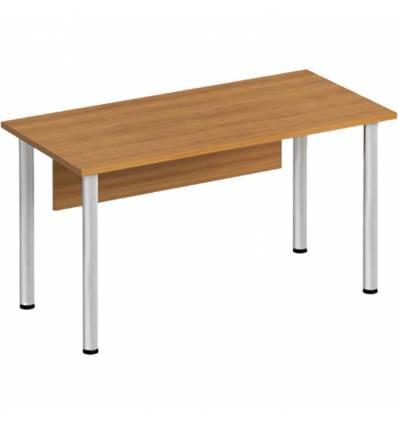 Стол офисный СТОРОСС Формула ФР-1112-ОН на хромированных опорах для персонала, 140*67*75, цвет орех натуральный