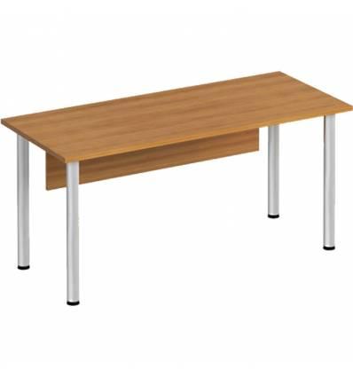 Стол офисный СТОРОСС Формула ФР-1113-ОН на хромированных опорах для персонала, 160*67*75, цвет орех натуральный