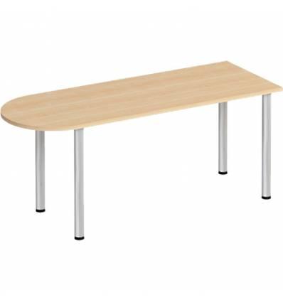 Стол офисный СТОРОСС Формула ФР-2103-БК полукруглый на хромированных опорах для персонала, 180*67*75, цвет бук