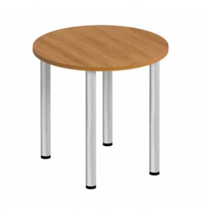 Стол офисный СТОРОСС Формула ФР-185-ОН круглый на хромированных опорах для переговоров, 80*80*75, цвет орех натуральный