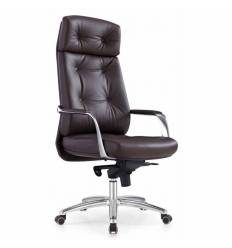 Кресло Бюрократ _DAO/BROWN для руководителя, кожа, цвет коричневый