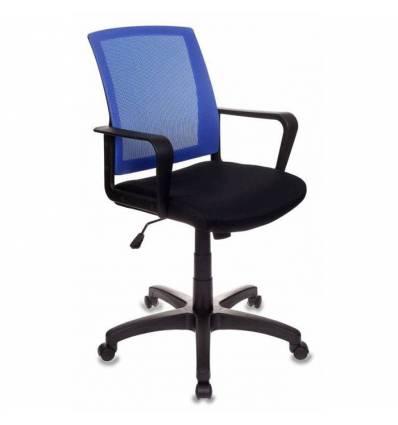 Кресло Бюрократ CH-498/BL/TW-11 для оператора, цвет синий/черный