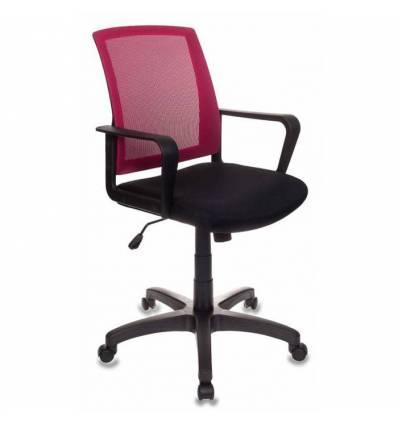 Кресло Бюрократ CH-498/CH/TW-11 для оператора, цвет бордовый/черный