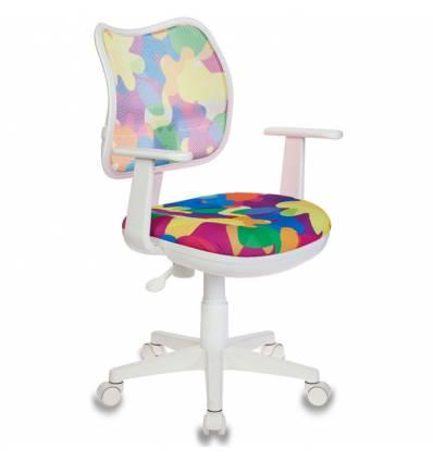 Кресло Бюрократ CH-W797/ABSTRACT для оператора детское, цвет мультиколор абстракция, спинка белая
