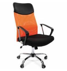 Кресло CHAIRMAN 610/ORANGE для руководителя, сетка/ткань, цвет оранжевый/черный