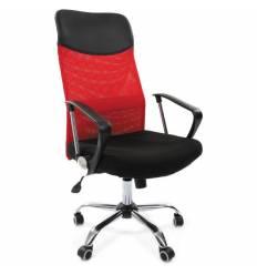 Кресло CHAIRMAN 610/RED для руководителя, сетка/ткань, цвет красный/черный