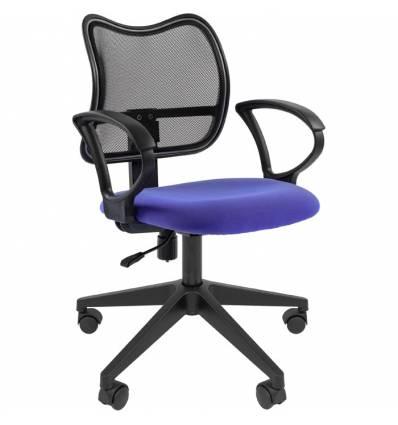 Кресло CHAIRMAN 450 LT/BLUE для оператора, сетка/ткань, цвет черный/синий