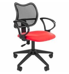 Кресло CHAIRMAN 450 LT/RED для оператора, сетка/ткань, цвет черный/красный