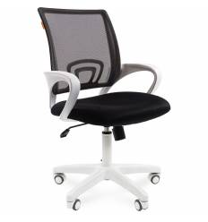 Кресло CHAIRMAN 696 WHITE/BLACK для оператора, белый пластик, цвет черный