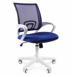 Кресло CHAIRMAN 696 WHITE/BLUE для оператора, белый пластик, цвет синий