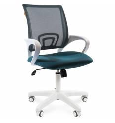 Кресло CHAIRMAN 696 WHITE/GREEN для оператора, белый пластик, цвет зеленый