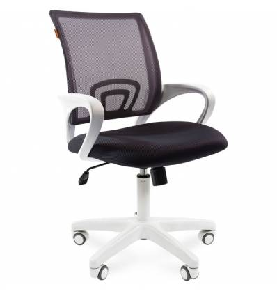 Кресло CHAIRMAN 696 WHITE/GREY для оператора, белый пластик, цвет серый