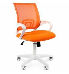Кресло CHAIRMAN 696 WHITE/ORANGE для оператора, белый пластик, цвет оранжевый
